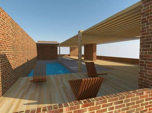 Decks en madera: Piscinas de estilo moderno por Arquimaderas