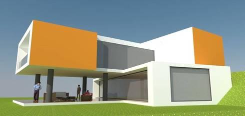Vivienda prioritaria:  de estilo  por VERA ARQUITECTOS CONSULTORIA Y CONSTRUCCION  SAS