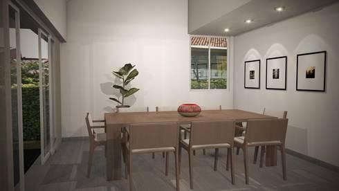 Casa Mirador de la Umbria: Comedores de estilo moderno por Spatium Arquitectura