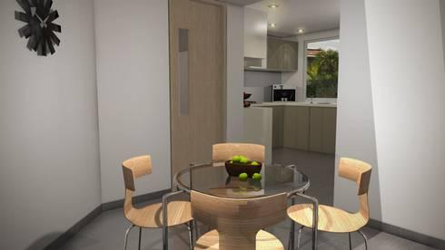 Casa Mirador de la Umbria: Cocinas de estilo moderno por Spatium Arquitectura