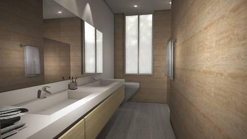 Casa Mirador de la Umbria: Baños de estilo moderno por Spatium Arquitectura