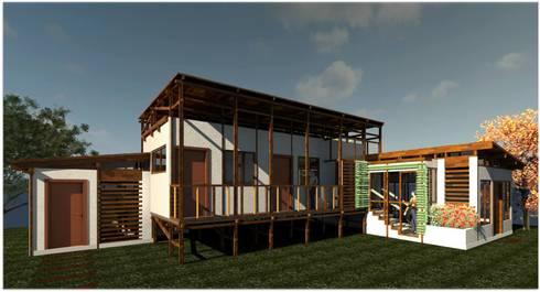 Diseño Casa Cafetera: Casas de estilo  por ClamB Arquitectura