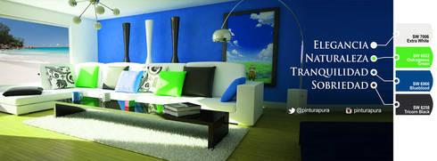 Ideas de colores: Paredes de estilo  por PINTURAS VF C.A.