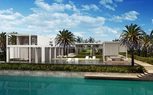 Trabajos: Casas de estilo moderno por ramirez+ramirez arquitectos