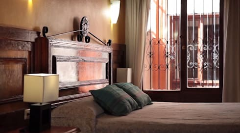 Hotel Mansión Del Valle, San Cristóbal de las Casas, Chiapas, México 2015: Recámaras de estilo colonial por Nua Colección
