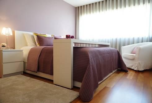 Apartamento V.N. de Gaia: Quartos modernos por Kohde