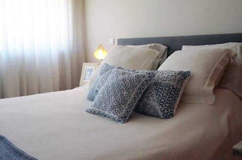 Apartamento Matosinhos Sul: Quartos modernos por Kohde