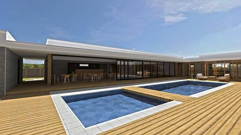 Vista do pátio interior e da piscina:   por CESaRtelier