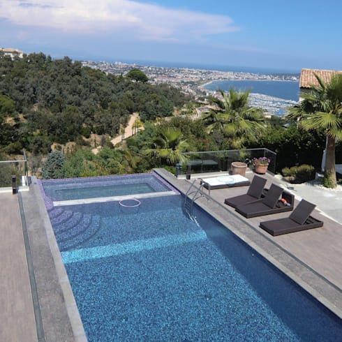 Piscina e tettoia in vetro cannes france di ga design - Piscina in vetro ...