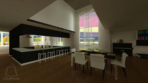 Sala de jantar e Cozinha:   por CESaRtelier
