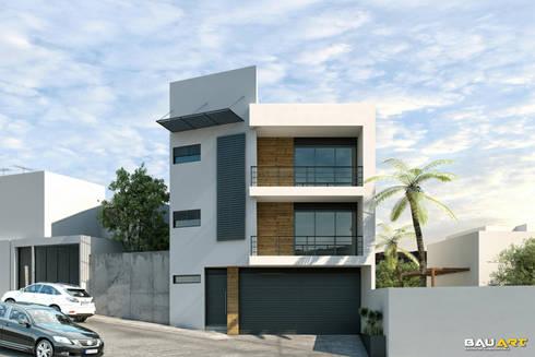 Casa R-R: Casas de estilo minimalista por Bau-Art  Taller de Arquitectura