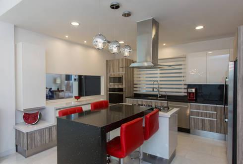Casa CG: Cocinas de estilo moderno por Grupo Arsciniest