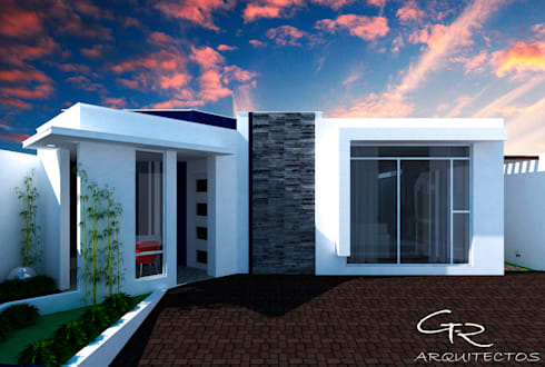 House Mundos Paralelos : Casas de estilo moderno por GT-R Arquitectos