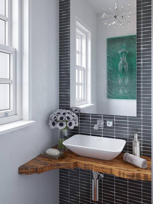 salle de bain :  de style  par kmmarchitecture