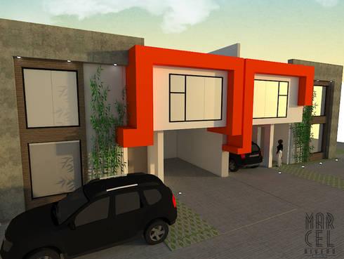 Vivienda Pareada: Casas de estilo moderno por Arquitectura Marcel Rivero