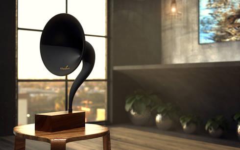 Loft: Salas de estar industriais por Tiago Martins - 3D