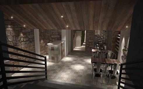 Sala 2: Espaços de restauração  por Tiago Martins - 3D