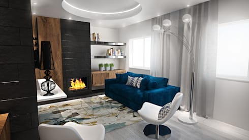 Sala: Salas de estar modernas por Tiago Martins - 3D
