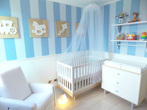 Habitación para Bebé: Cuartos infantiles de estilo  por TRIBU ESTUDIO CREATIVO