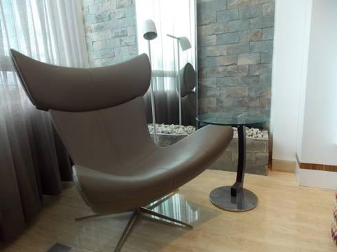 Apartamento 533: Salas / recibidores de estilo moderno por TRIBU ESTUDIO CREATIVO