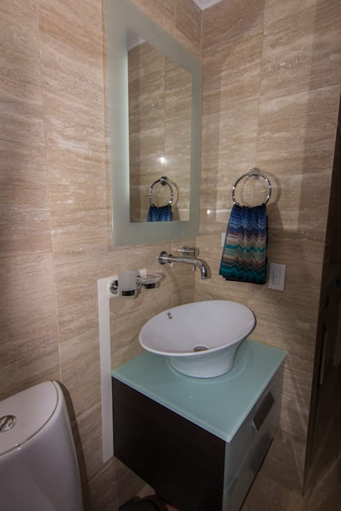 Apartamento B24: Baños de estilo moderno por TRIBU ESTUDIO CREATIVO
