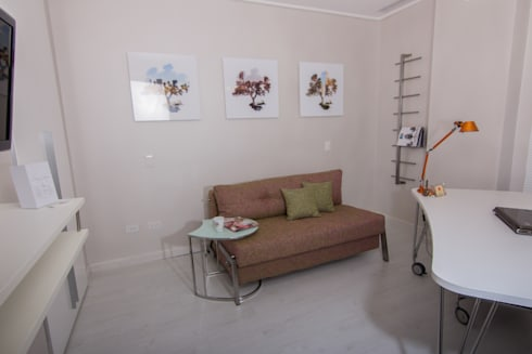 Apartamento B24: Oficinas de estilo moderno por TRIBU ESTUDIO CREATIVO