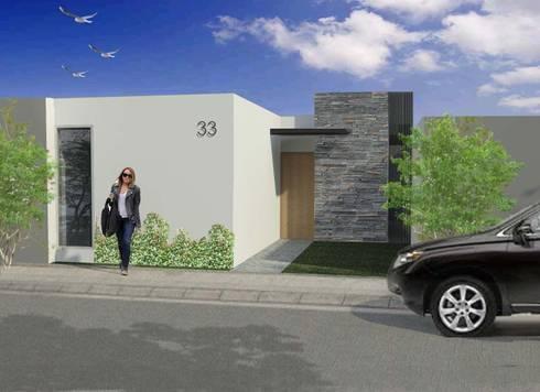 CASA S-33: Casas de estilo minimalista por TEZZA