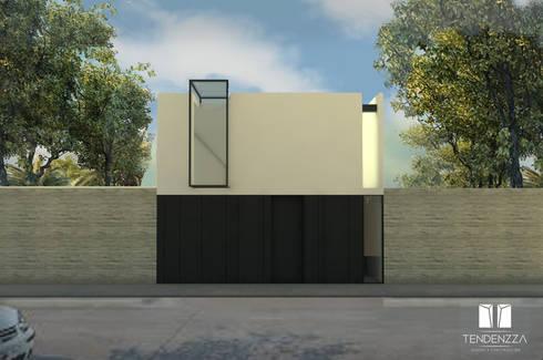 CASA  C-102: Casas de estilo minimalista por TEZZA