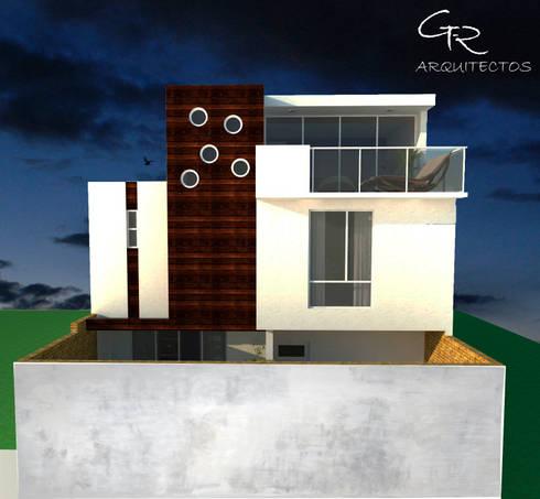 House Tempo: Casas de estilo moderno por GT-R Arquitectos