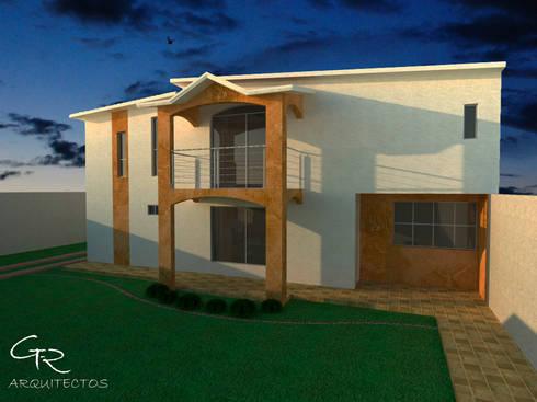 R-1: Casas de estilo moderno por GT-R Arquitectos
