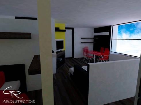 Loft Montecillo 05 : Comedores de estilo minimalista por GT-R Arquitectos