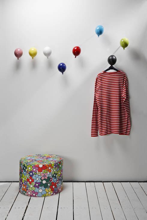 Appendiabiti da parete decorativo mini balloon di - Appendiabiti da bagno ...
