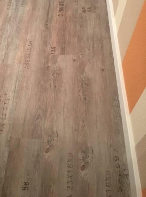 Klick Vinylboden In Vorhander Küche Von Bodenheld Homify - Vinylboden mit schrift