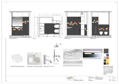 A casa de banho Kubic:   por Architect Your Home