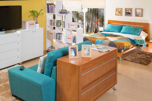 Recámara/Sala de tv: Recámaras de estilo moderno por Idea Interior