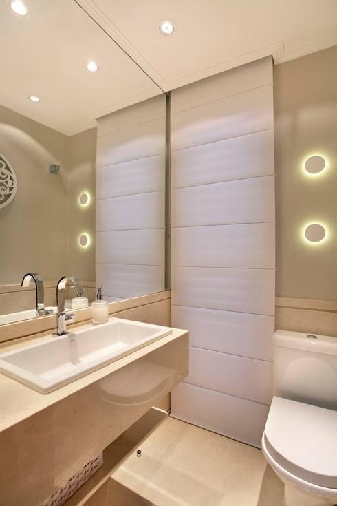 LAVABO: Banheiros  por APM INTERIORES