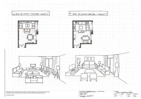 Um apartamento contemporâneo:   por Architect Your Home