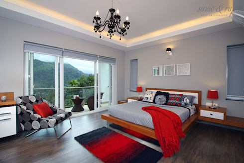 Master Suite: modern Bedroom by Savio and Rupa Interior Concepts