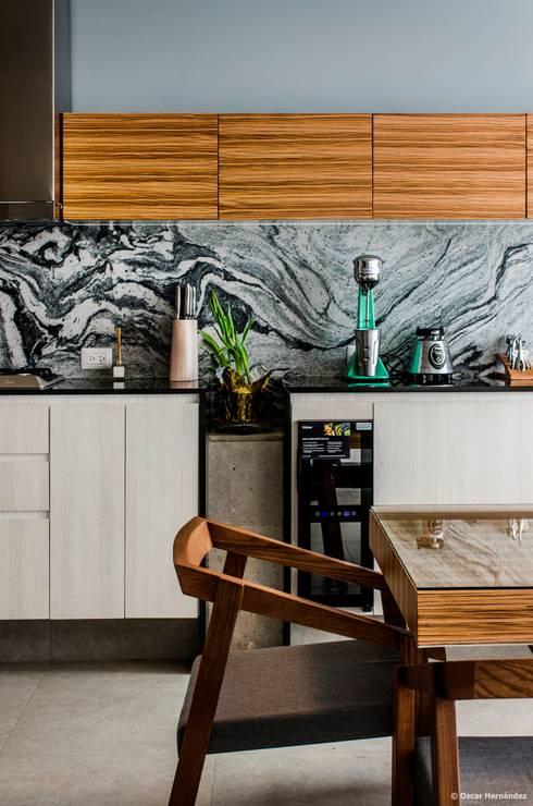 casaMEZQUITE: Cocinas de estilo  por BAG arquitectura