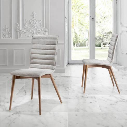 Cadeiras Chairs www.intense-mobiliario.com  Modern http://intense-mobiliario.com/product.php?id_product=8838: Sala de jantar  por Intense mobiliário e interiores;