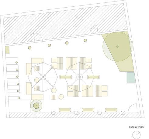 CASINHA BOUTIQUE CAFÉ I VIANA: Espaços de restauração  por Habitat Arquitectura Paisagista