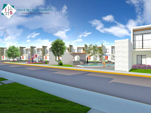 Privada Residencial: Casas de estilo minimalista por ISLAS & SERRANO ARQUITECTOS