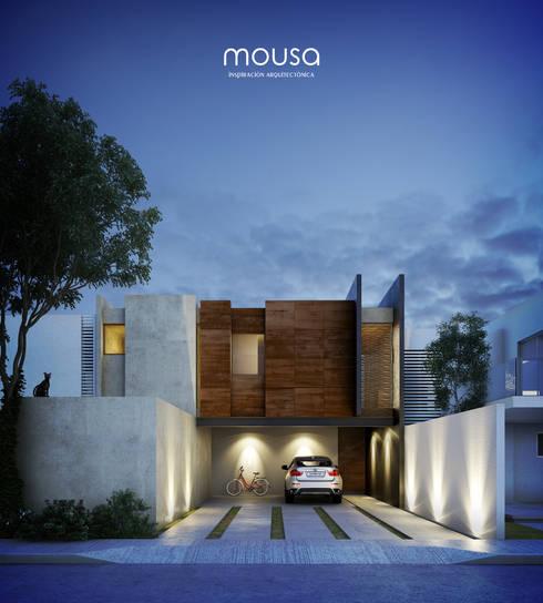 Casa Alor: Casas de estilo  por mousa / Inspiración Arquitectónica