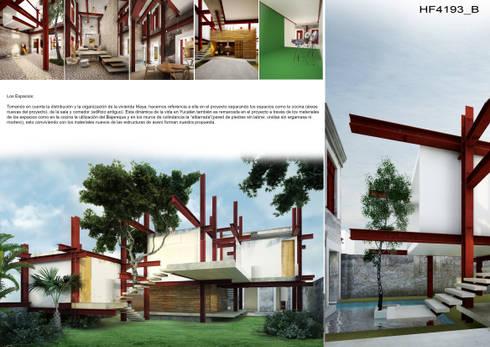 A HOUSE FOR...: Casas de estilo rústico por mousa / Inspiración Arquitectónica