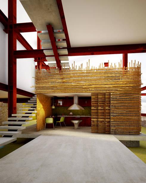 A HOUSE FOR...: Cocinas de estilo rústico por mousa / Inspiración Arquitectónica