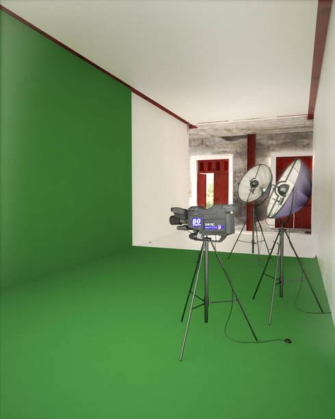A HOUSE FOR...: Estudios y oficinas de estilo rústico por mousa / Inspiración Arquitectónica