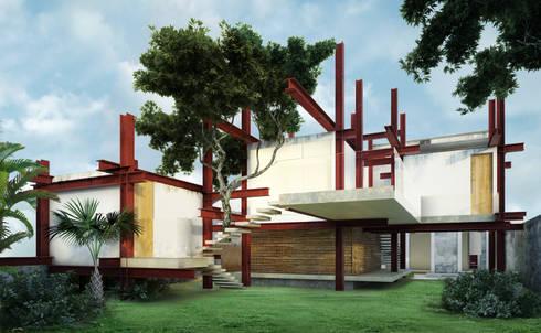 A HOUSE FOR...: Jardines de estilo rústico por mousa / Inspiración Arquitectónica
