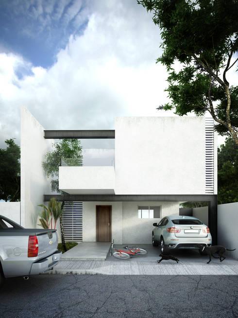 Casa A: Casas de estilo minimalista por mousa / Inspiración Arquitectónica