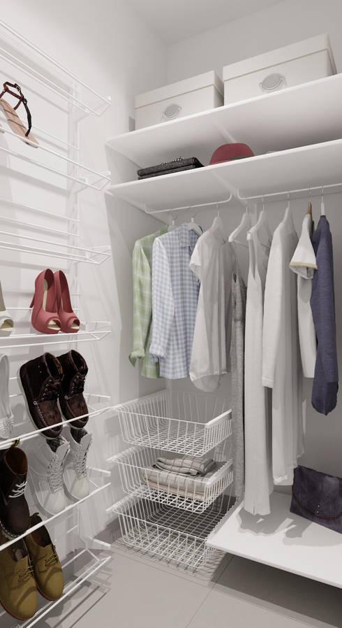 minimalistic Dressing room by  Евгения Млынчик