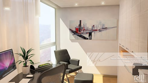 AREA DE ESTUDIO: Oficinas de estilo minimalista por Arq.AngelMedina+